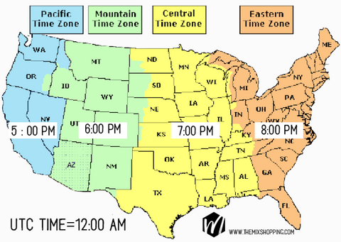 UTC Time with US Time Zones The Mix