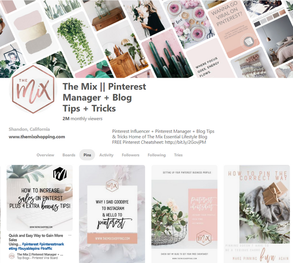 Pinterest Profile New Updates The Mix