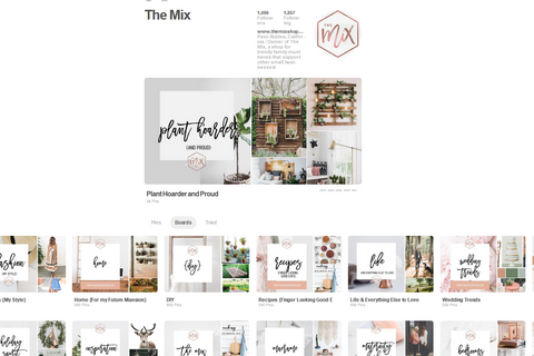 The Mix Pinterest Board Covers - Brand Mood