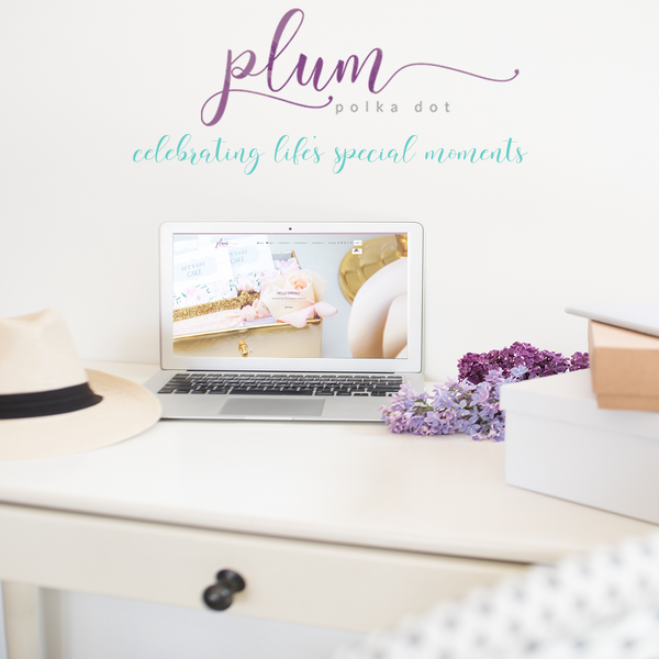 Website Design Plum POlka Dot
