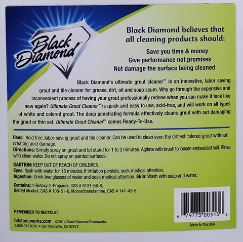 Ultimate Grout Cleaner - 32 oz. Black Diamond Stoneworks