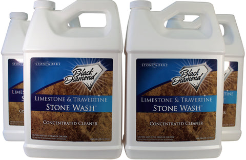 Limestone and Travertine Floor Cleaner: Natural Stone, Marble, Slate, Polished Concrete, honed or tumbled surfaces. Concentrated Ph. Neutral. By Black Diamond Stoneworks