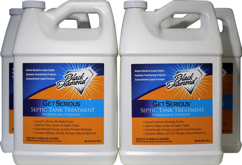 GET SERIOUS Septic Tank Treatment Liquid Natural Enzymes For Residential, Commercial, Industrial and RV's Systems.