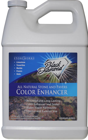 COLOR ENHANCER SEALER for All Natural Stone and Pavers. Marble, Travertine, Limestone, Granite, Slate, Concrete, Grout, Brick. More Size Options