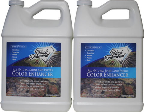 COLOR ENHANCER SEALER for All Natural Stone and Pavers. Marble, Travertine, Limestone, Granite, Slate, Concrete, Grout, Brick, Block.