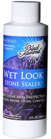 Wet Look Natural Stone Sealer Provides Durable Gloss & Protection to: Slate, Concrete, Brick, Sandstone, Driveways, Garage Floors. Interior/Exterior.