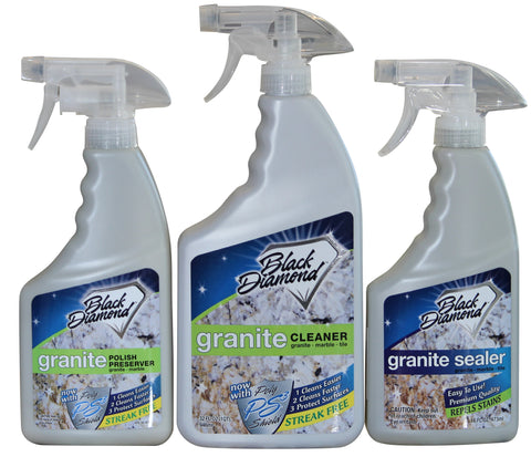 Granite Cleaner, Sealer, and Polish Preserver 3 Pack