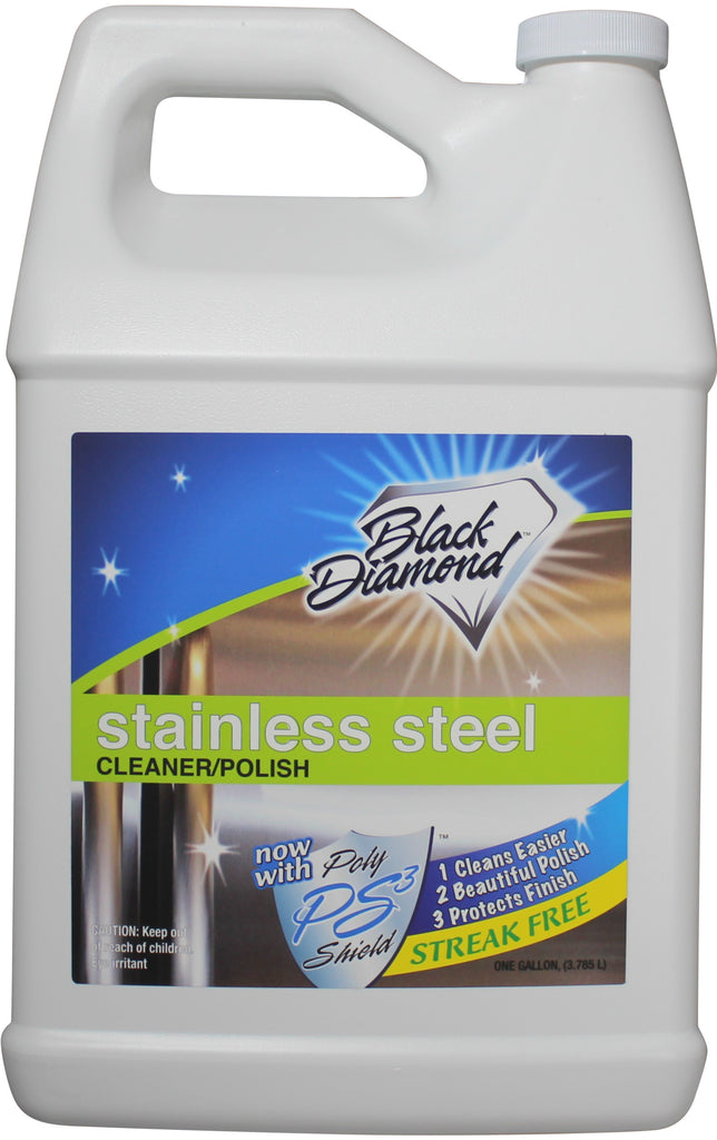 Stainless Steel Cleaner & Polish Best Streak Free Clean & Shine for all Appliances Refrigerators, Oven, Stove, Dishwasher and more. By Black Diamond Stoneworks.