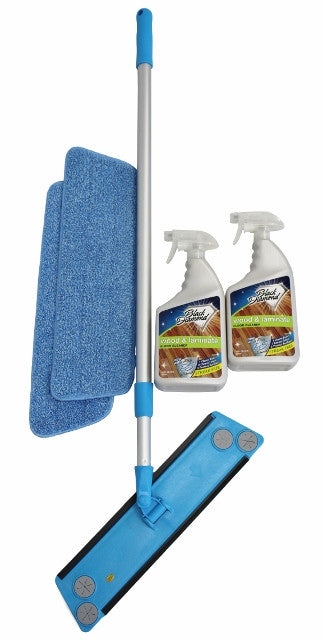 Microfiber Mop 2- Pads and 2 Wood and Laminate Cleaners.