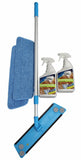 Image of Microfiber Mop 2- Pads and 2 Wood and Laminate Cleaners.