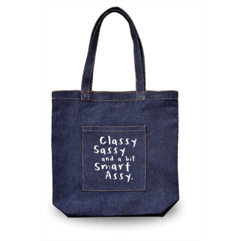 Tay's Treasures Accessories Denim Classy, Sassy, Smart Assy Tote