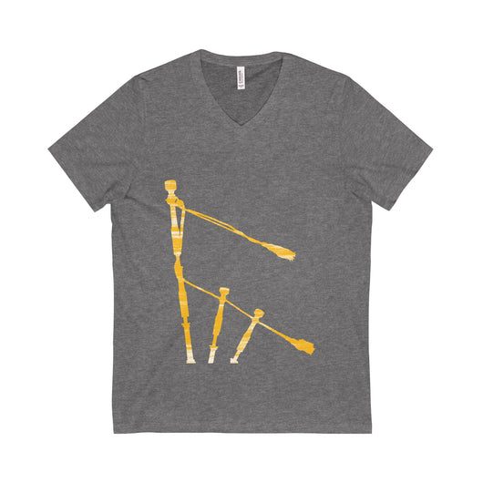 V-neck Gold Drones V-Neck T-Shirt - Gracenote Apparel