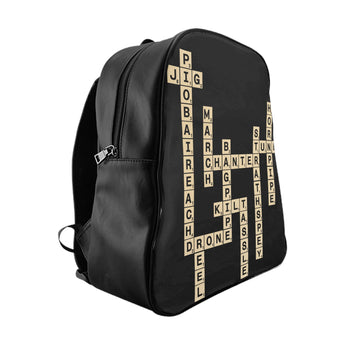 Bagpipe Pipe Band Scrabble Backpack