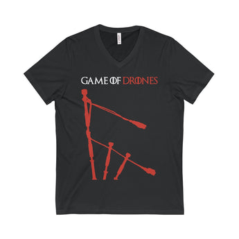 V-neck Game of Drones Unisex V-Neck T-Shirt - Gracenote Apparel