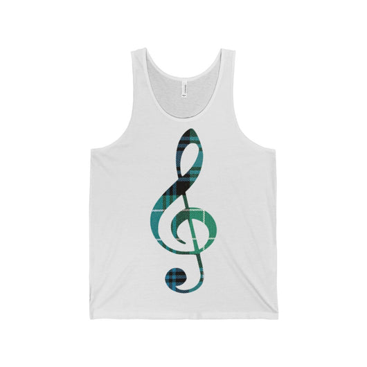 Tank Top Tartan Treble Clef Tank Top - Gracenote Apparel