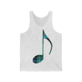 Tank Top Tartan Music Note Tank Top - Gracenote Apparel