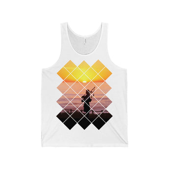 Tank Top Sunset Piper Unisex Jersey Tank Top - Gracenote Apparel