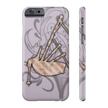 Phone Case Floral Design and Pink Striped Bagpipe Phone Case - Gracenote Apparel