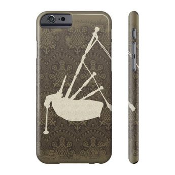 Phone Case Victorian Pattern Bagpipe - Brown Phone Case - Gracenote Apparel