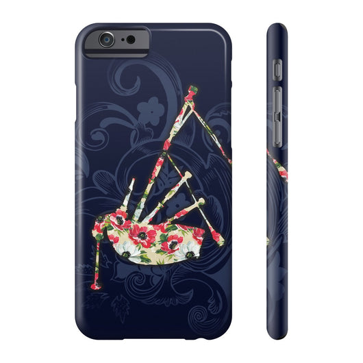 Phone Case Blue Flower Design and Floral Bagpipe Phone Case - Gracenote Apparel
