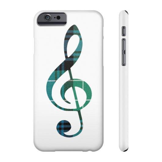 Phone Case Tartan Treble Clef Phone Case - Gracenote Apparel