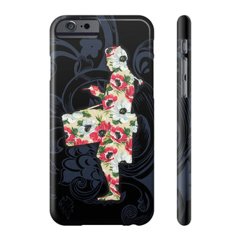 Phone Case Blue Flower Design and Floral Snare Drumming Phone Case - Gracenote Apparel