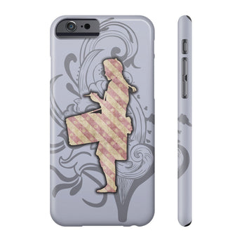 Phone Case Pink Striped Snare Drumming Phone Case - Gracenote Apparel