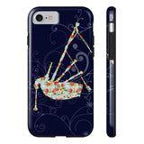Phone Case Bagpipe Floral Pattern and Vines Phone Case - Gracenote Apparel