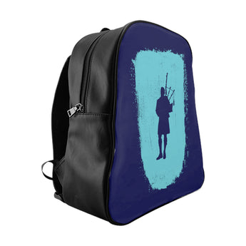 Blue Bagpiper Paint Stroke Backpack