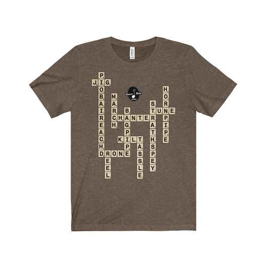 Bagpipes Scrabble Unisex Crew Neck T-Shirt