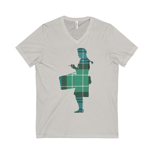 V-neck Tartan Snare Drummer V-Neck T-Shirt - Gracenote Apparel