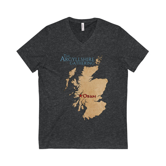 V-neck Argyllshire Gathering Gold Medalists V-Neck T-Shirt - Gracenote Apparel