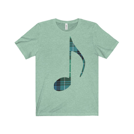 T-Shirt Tartan Music Note Unisex Crew Neck T-Shirt - Gracenote Apparel