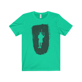 T-Shirt Bagpiper Paint Stroke Unisex Crew Neck T-Shirt - Gracenote Apparel