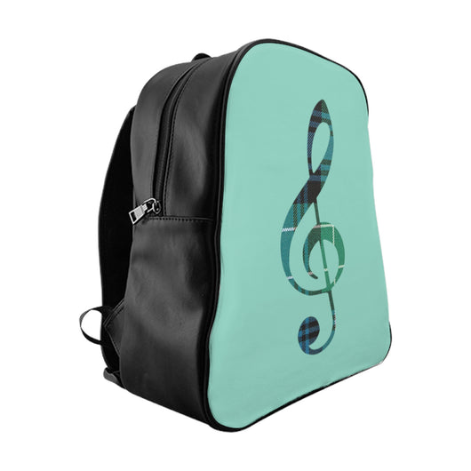 Bags Tartan Treble Clef Backpack - Gracenote Apparel