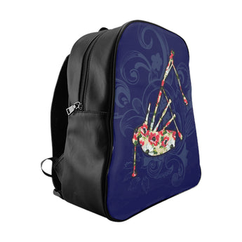 Blue Floral Bagpipe Backpack