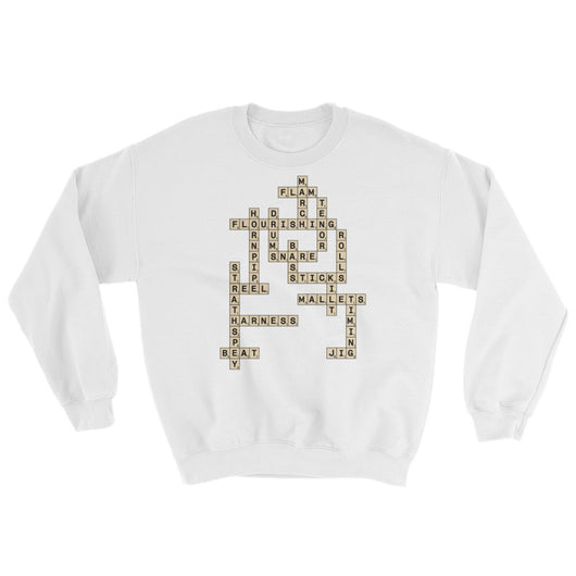 Pipe Band Drumming Scrabble Sweater - Gracenote Apparel