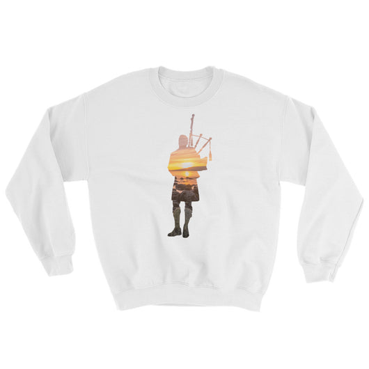 Rocks and Sunset Bagpiper Sweater - Gracenote Apparel