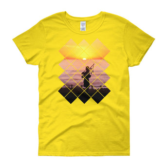 Sunset Piper Women's Crew Neck T-Shirt - Gracenote Apparel