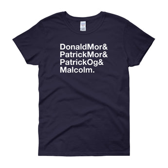 Donald Mor, Patrick Mor, Patrick Og, and Malcolm MacCrimmon Women's Crew Neck T-Shirt