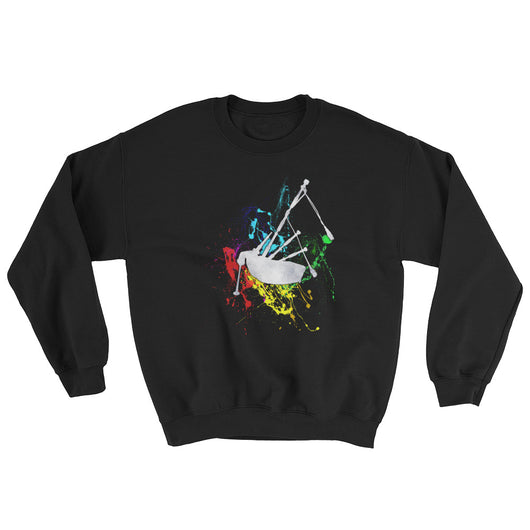 Bagpipe Paint Splatter Sweatshirt - Gracenote Apparel