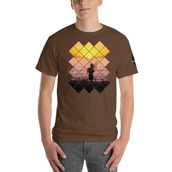 Bagpiper at Sunset Unisex T-Shirt - Gracenote Apparel