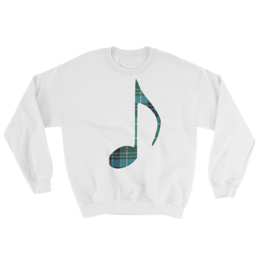 Tartan Music Note Sweater - Gracenote Apparel
