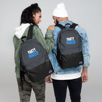 Party Naked Embroidered Champion Backpack