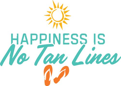 Happiness Is No Tan Lines Sticker