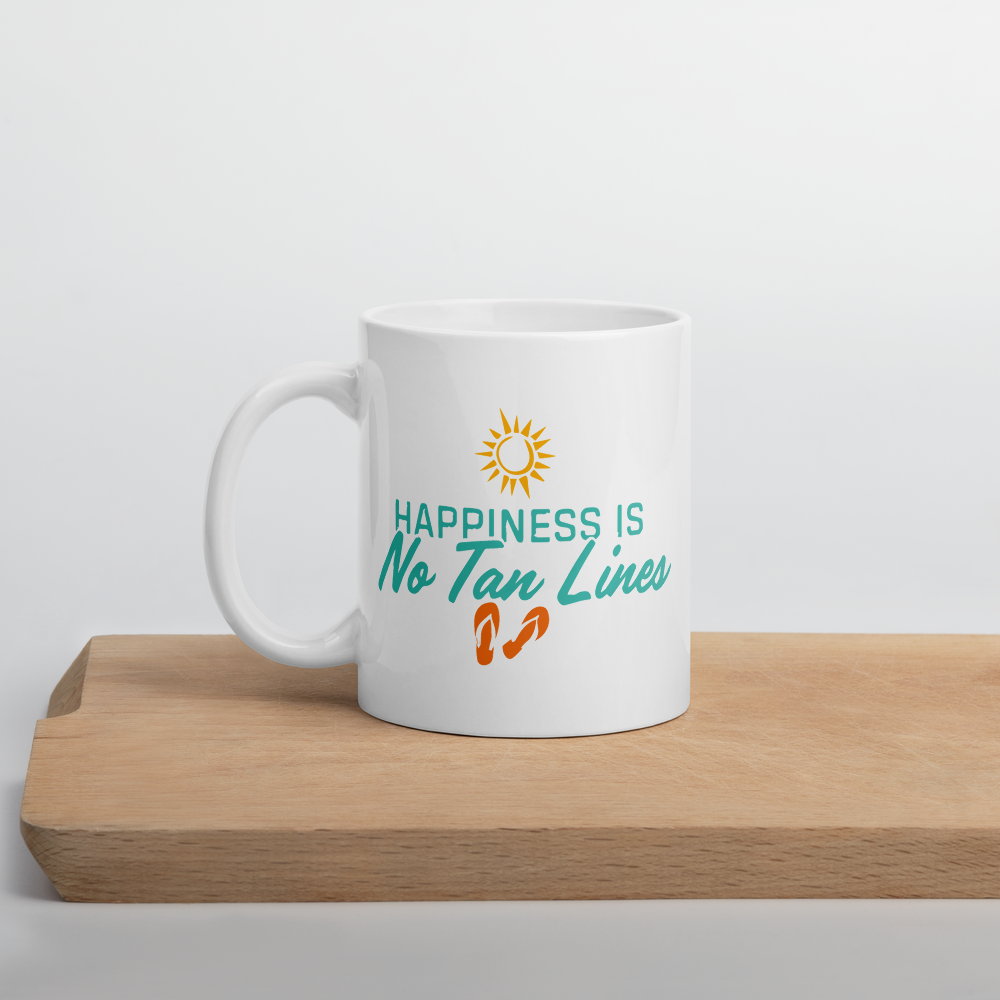 Happiness Is No Tan Lines Mug