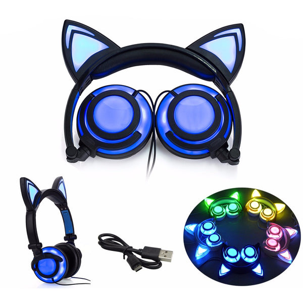 LED Kitty Cat Ear Headphones - AFK eSport Store (AFKeSportStore.com)