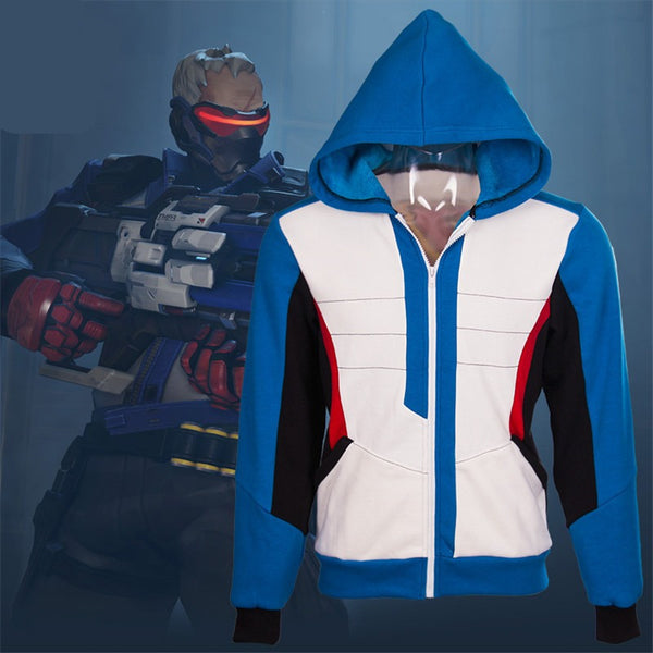 Overwatch Cosplay Soldier: 76 Hoodie Jacket - AFK eSport Store
