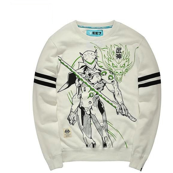 Overwatch Genji Varsity Striped Pullover Sweater - AFK eSport Store (AFKeSportStore.com)
