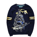 Overwatch Hanzo Varsity Striped Pullover Sweater - AFK eSport Store (AFKeSportStore.com)